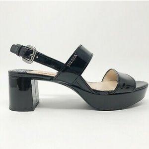 Prada Slingback Platform Sandals Sz 8